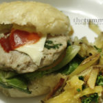 {Built from Scratch} Chicken Parmesan Burgers with Garlic Fries