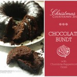 {Countdown to Christmas} Minty Chocolate Bundt Cake