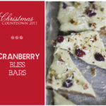 {Countdown to Christmas} Cranberry Bliss Bars for the sweet tooth