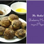 {Go With the Flo} Blueberry Muffins with Doughnut Topping