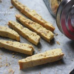 Thinking of blogging's role in my life over Cornmeal & Olive Oil Biscotti