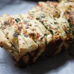 Flo Braker's pull-apart bread in Herb & Cheese style