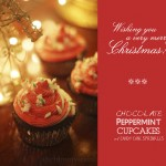 Chocolate Peppermint Cupcakes to wish you a very Merry Christmas!