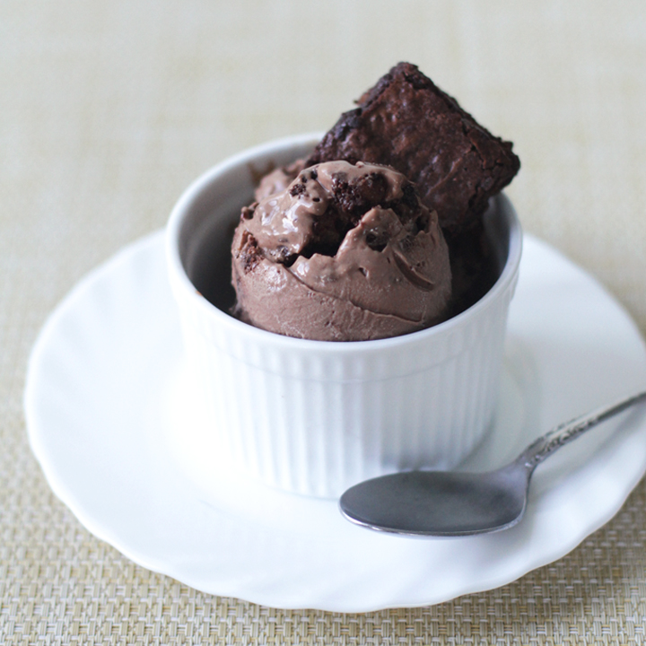 Milk Chocolate Brownies Ice Cream 1 - This ice cream is so decadent it should be illegal