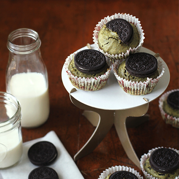 Green Tea Orea Muffins - A simple gift for a friend who is anything but plain