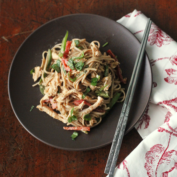 Spicy Chikn Soba - This 20-Minute Spicy Peanut and Chicken Soba is the bomb