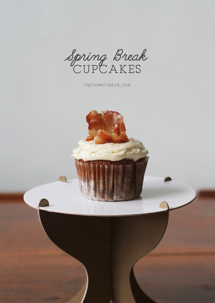 Beer Batter Maple Bacon Spring Break Cupcakes