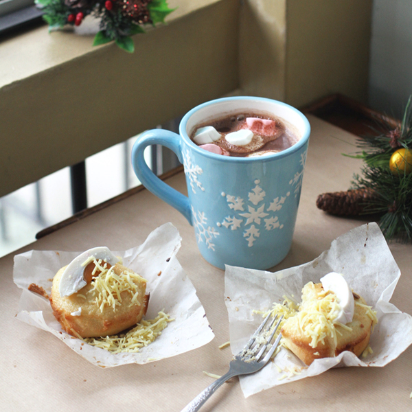 Bibingka with Rum Hot Cocoa - A bibingka recipe for the books and some spiked hot chocolate to go with it