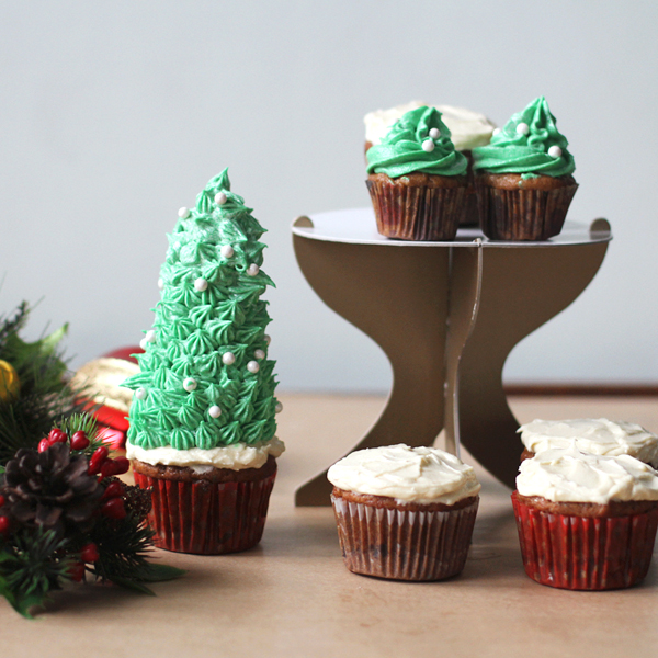 Christmas Tree Cupcakes - My most festive cupcakes yet to wish you all good cheer!