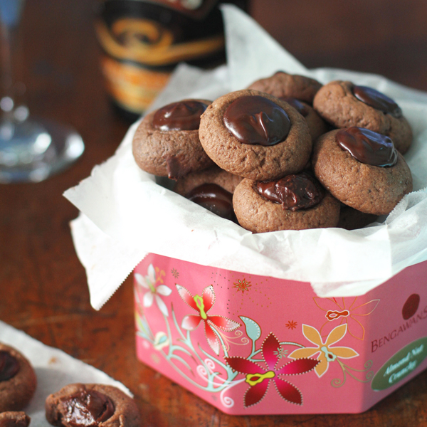 Baileys Choco Thumbprint Cookies 2 - 2015 Blog Resolutions + Spiked Chocolate Thumbprint Cookies