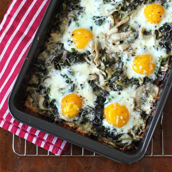 Mushroom Spinach Baked Eggs - Say hello to my new obsession-- baked eggs!