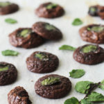 Fresh-from-the-garden mint and chocolate truffle cookies