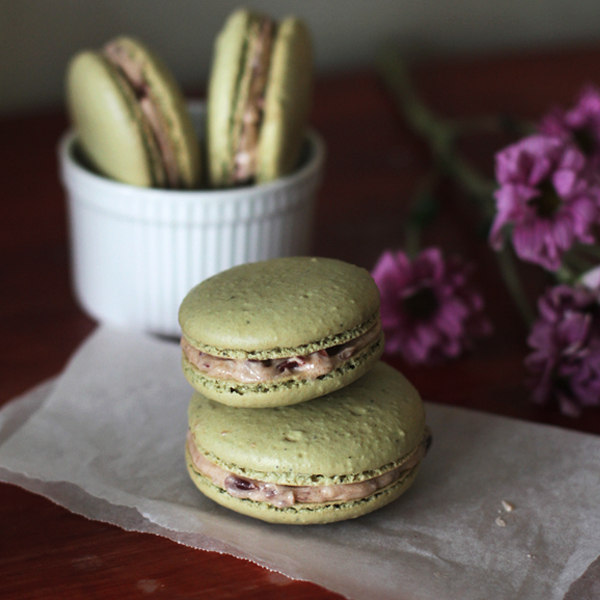 Matcha Macarons with RB Filling - Matcha Macarons with Red Bean Filling + My Japan Travel Video!