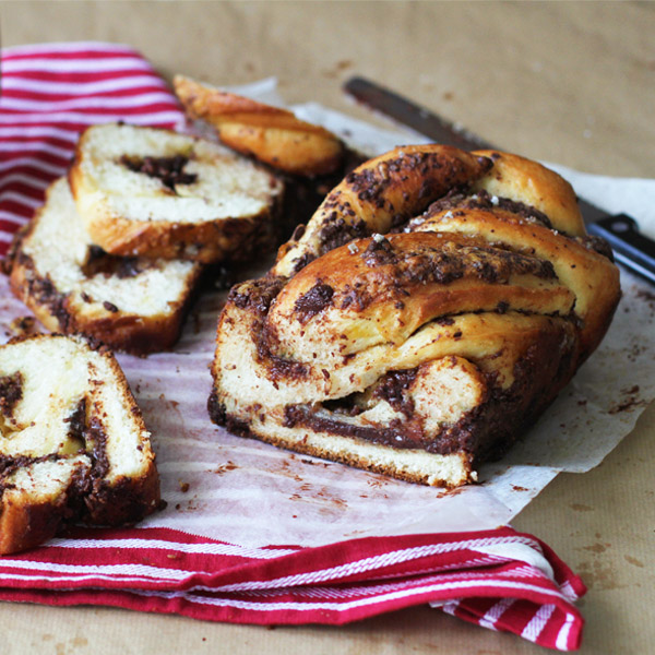 Salted Choco Babka - Have some Salted Chocolate Babka in January, because why not?