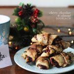 A different cookie for Santa this year with this Cherry, Chocolate, Almond Rugelach Recipe