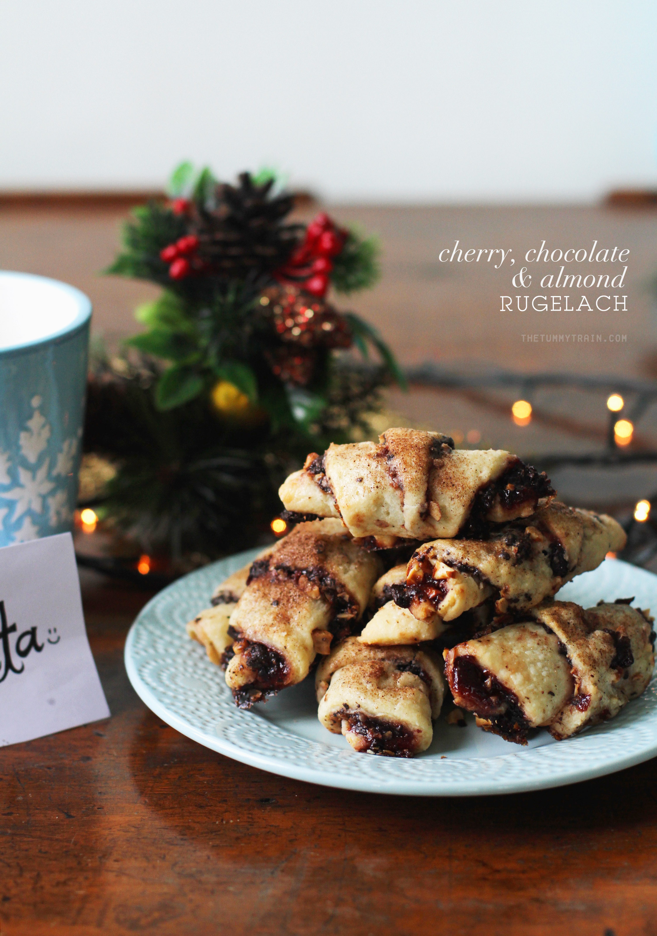 CCA Rugelach 1 1 - A different cookie for Santa this year with this Cherry, Chocolate, Almond Rugelach Recipe [VIDEO]