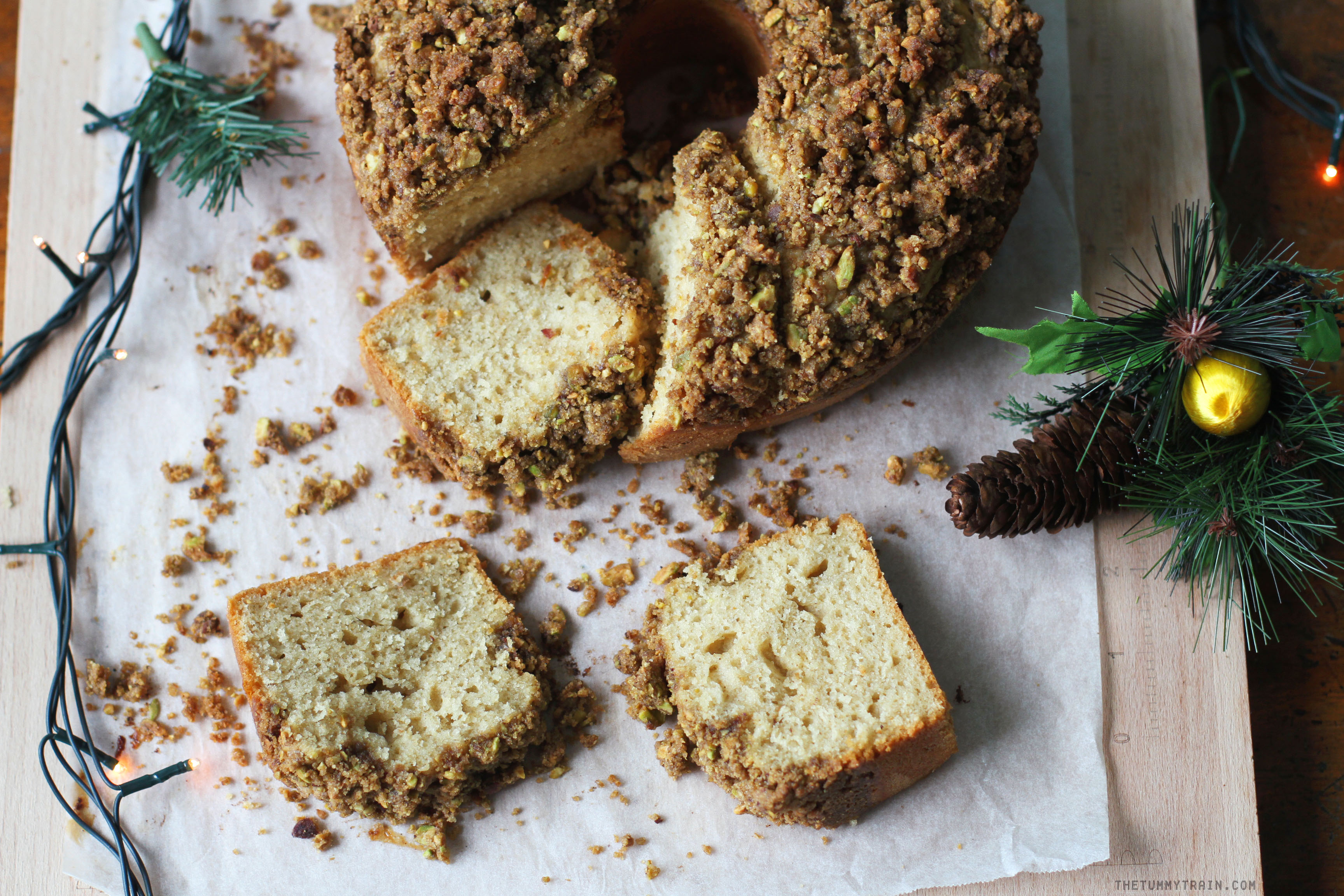 Pist Cardamom Coffee Cake 1 - A Cardamom Coffee Cake Recipe to wish you a cozy and peaceful Christmas
