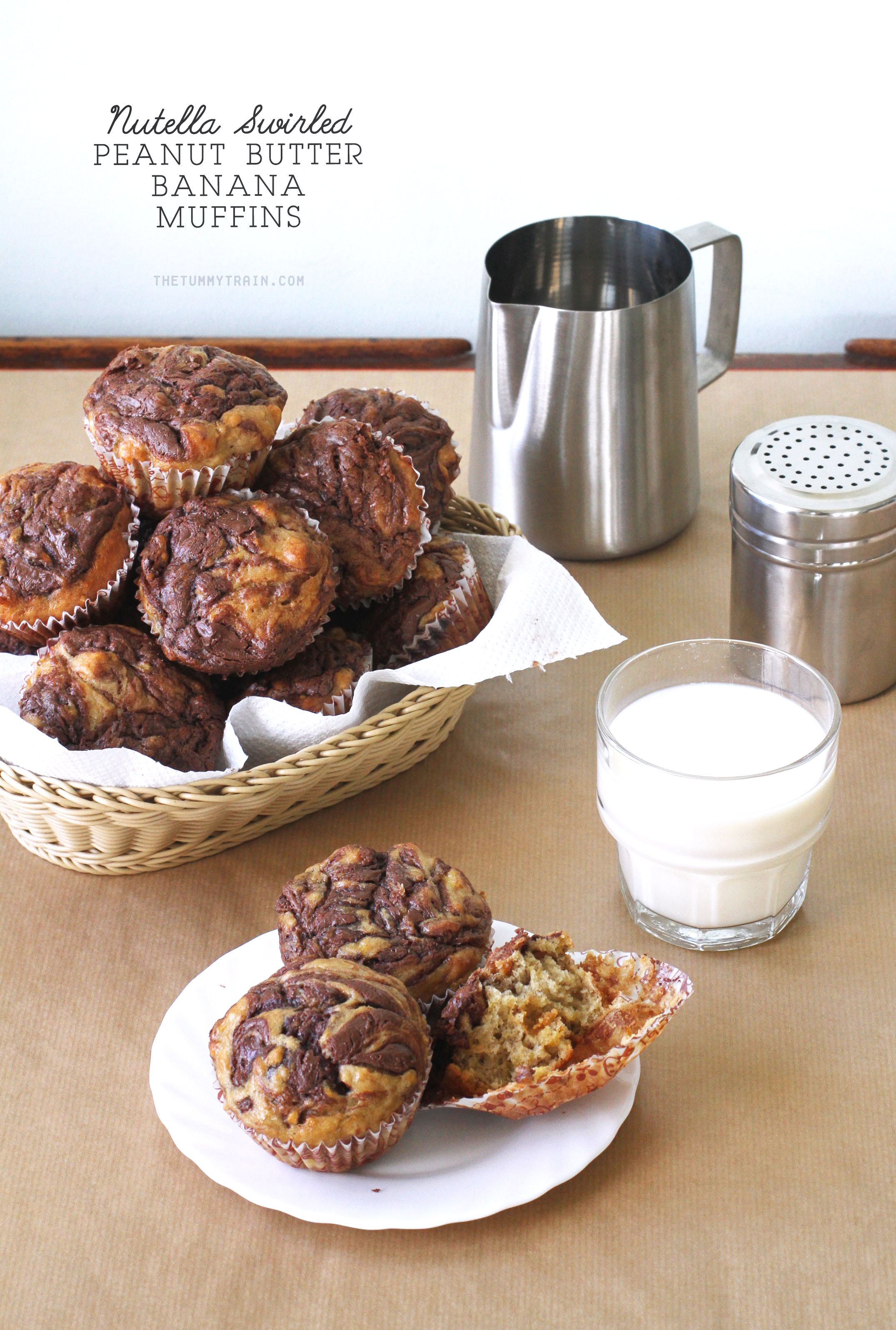 Nutella PB Banana Muffins 1 1 - Muffins with a crown of Nutella for World Nutella Day this year [VIDEO]