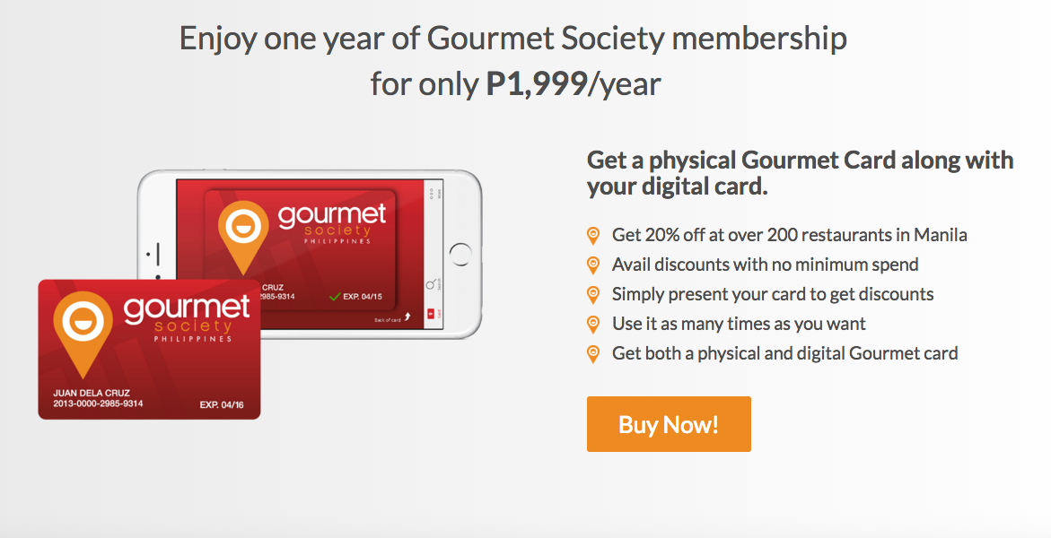 Gourmet Society - Foodies, it's time you get hold of the Gourmet Society Card