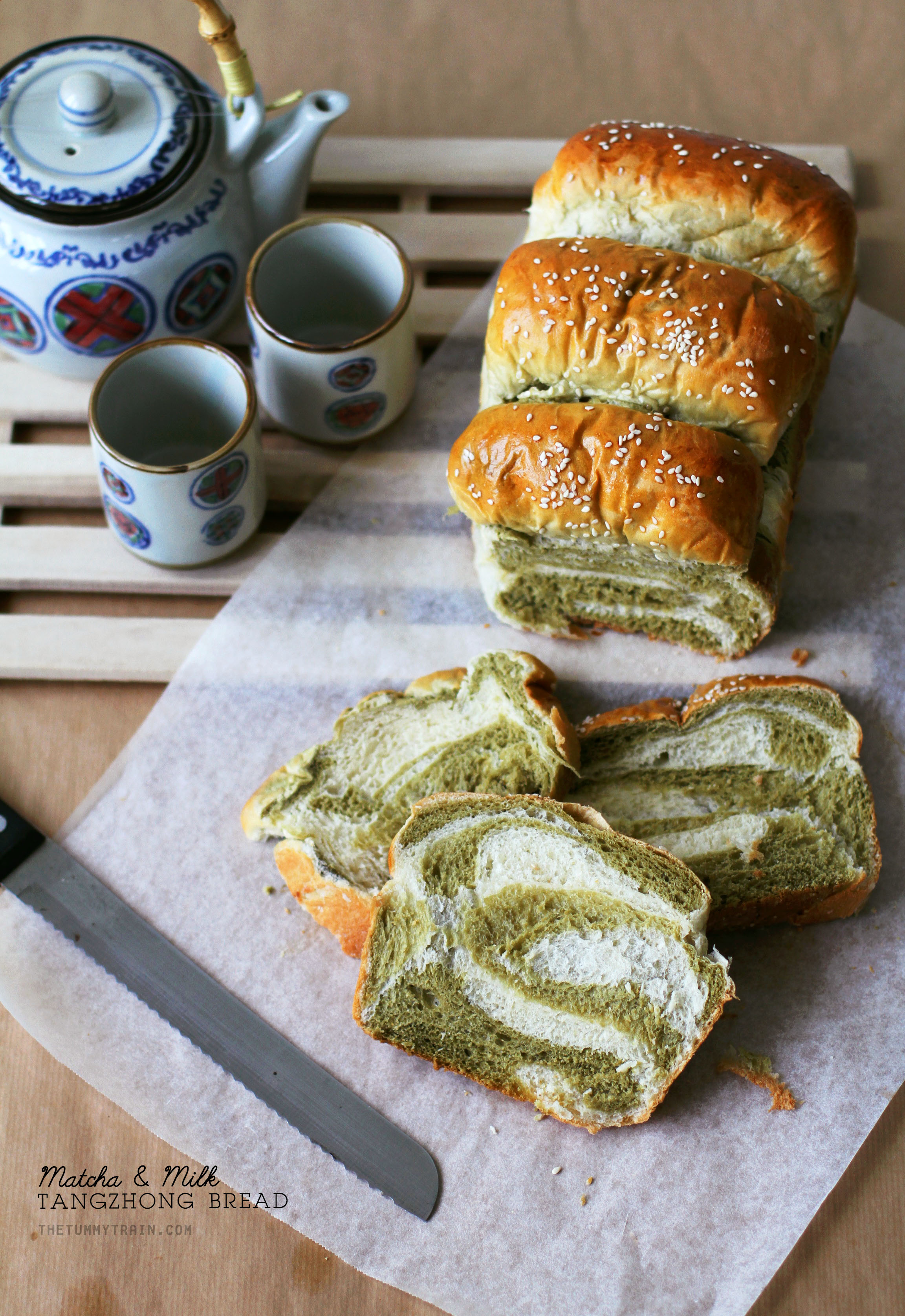 MM Bread 1 - The pleasures of making a Matcha-Milk Tangzhong Bread [VIDEO]