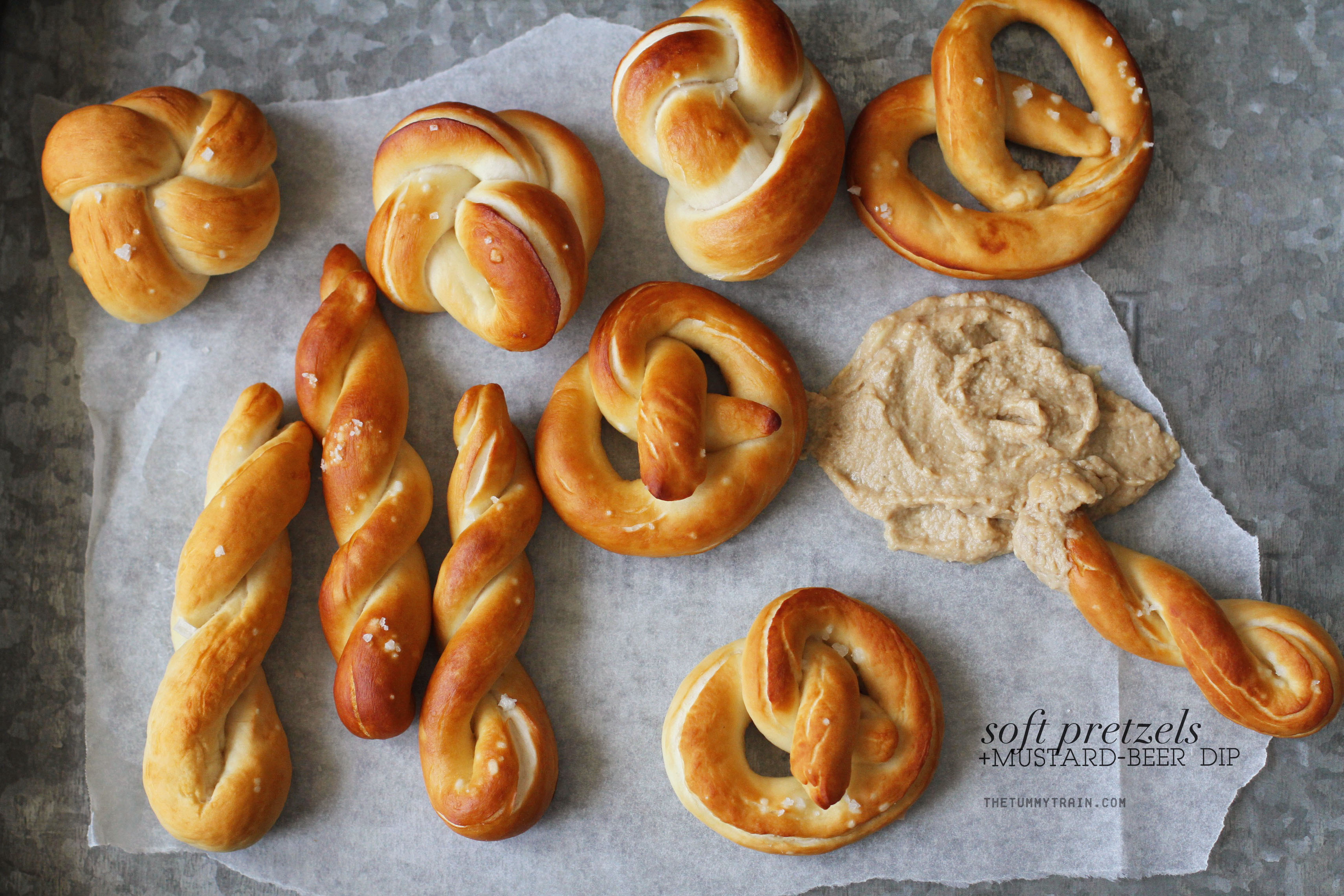 Soft Pretzels 1 - Pretzels with Mustard Dip attempted out of curiosity + a tutorial on how to shape pretzels