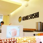 Trying the Bullet Train-delivered sushi at Genki Sushi BGC Stopover