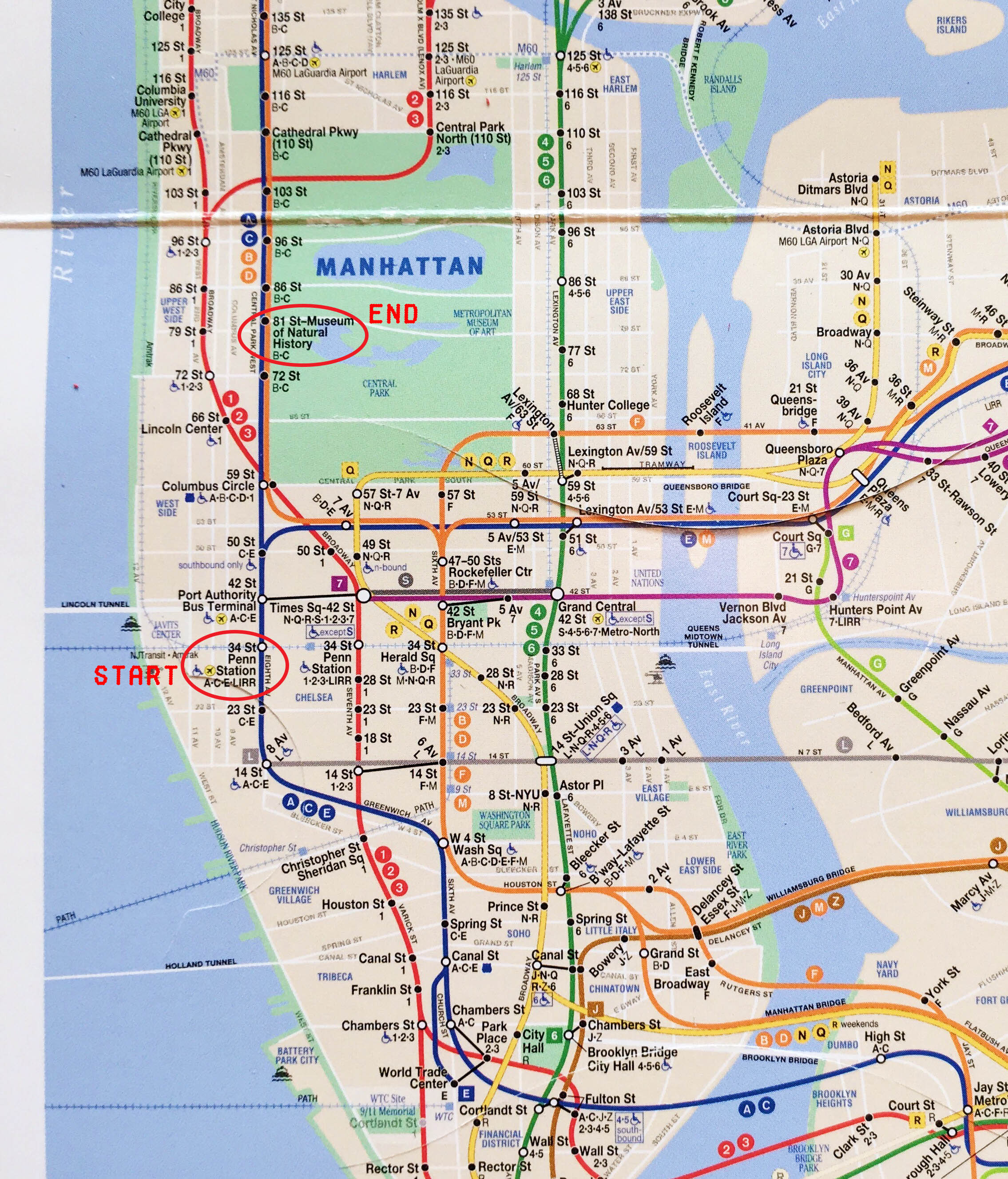 NY Guide Map - 12 Tips for your first time in New York City