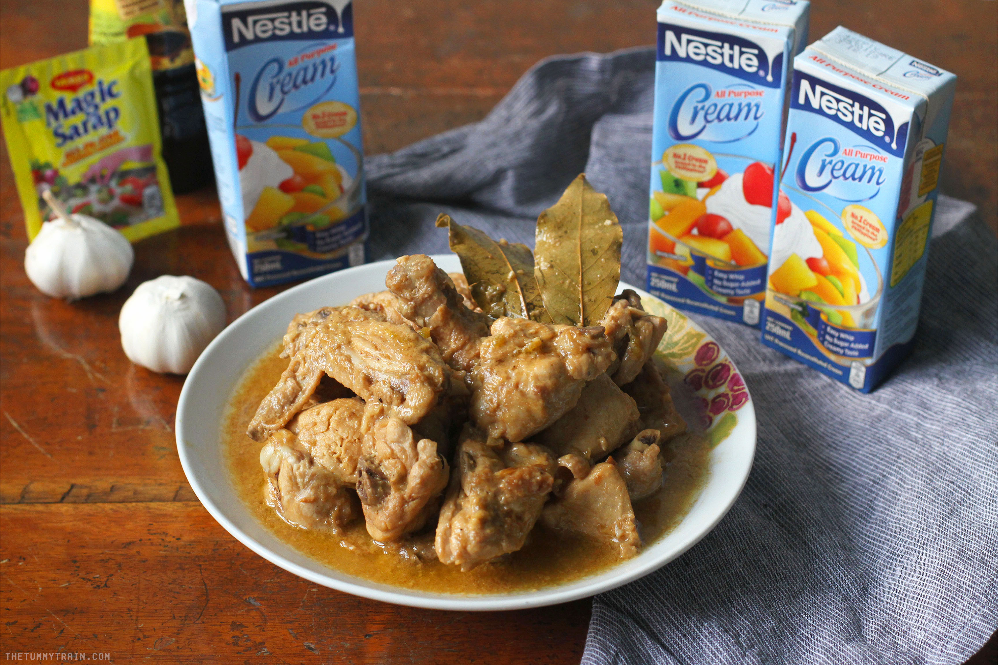Nestle Creamy Chicken Adobo 1 - Creamy Chicken Adobo recipe at home with Nestle All Purpose Cream