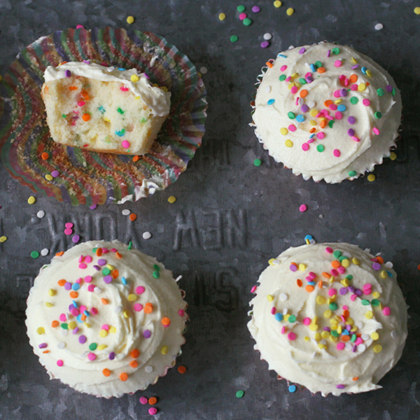 Funfetti Cupcakes - It's always a celebration with Funfetti Cupcakes and KitchenAid