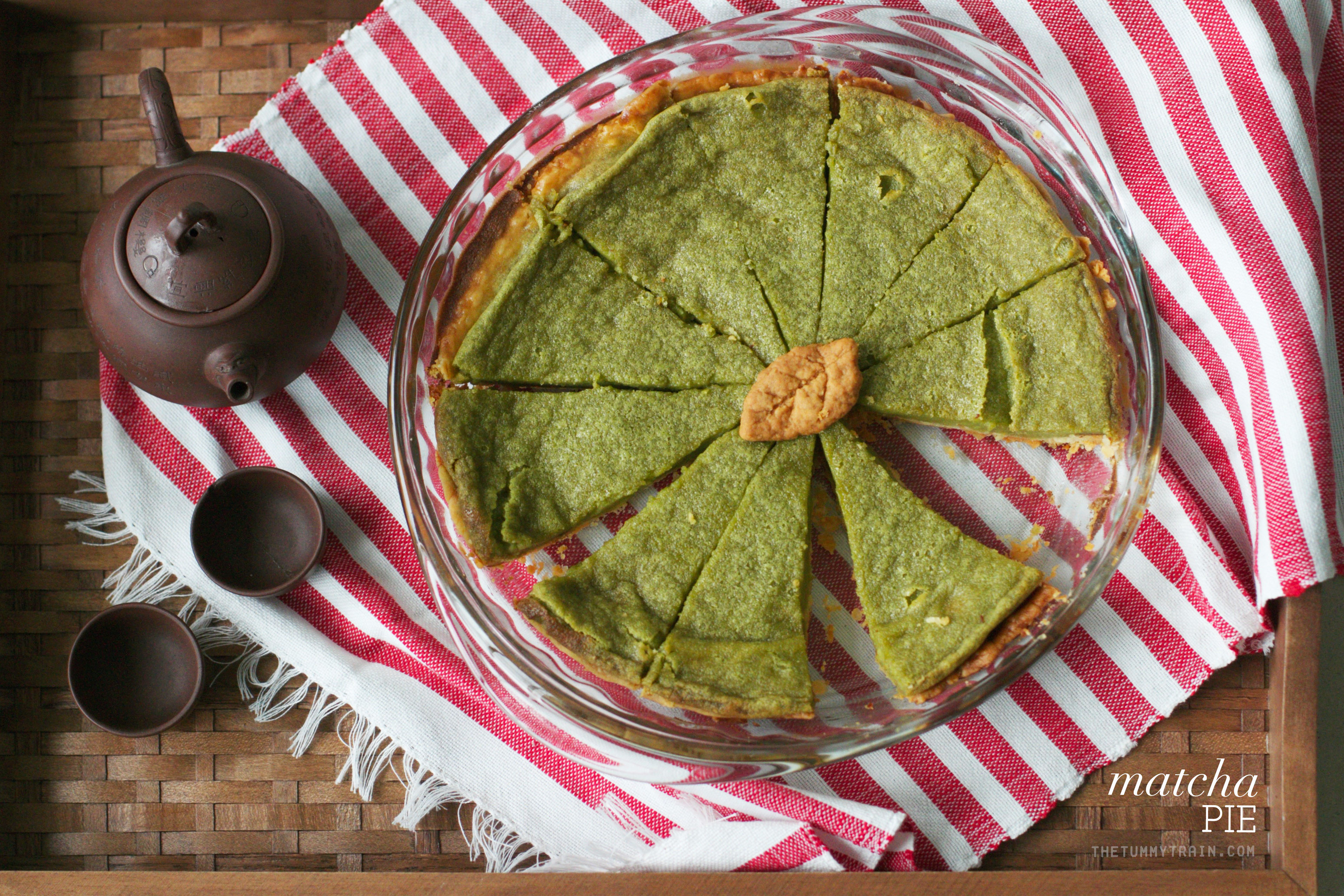 Matcha Pie 1 - Second chance Matcha Pie using Matcha King's Ceremonial Matcha