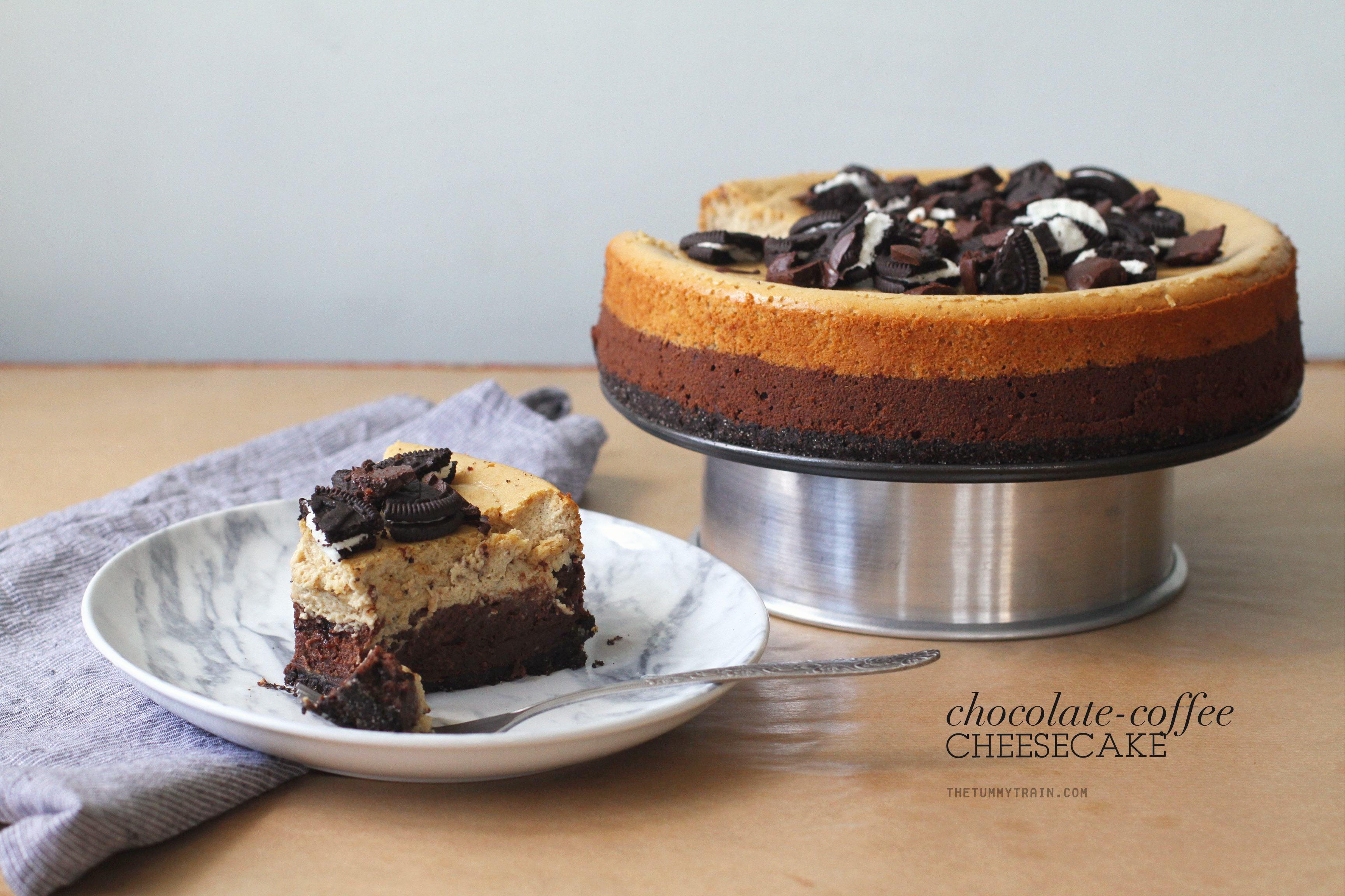 Coffee Choco Cheesecake 1 - This Chocolate & Coffee Cheesecake is insanely good