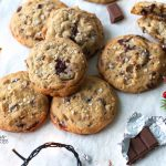 A bit of holiday indulgence with these Triple Chocolate Chunk Cookies