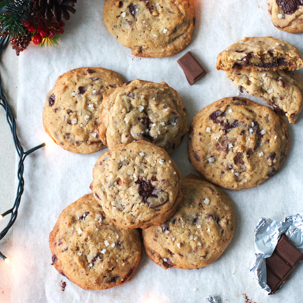 Triple Choco Chunk Cookies - A bit of holiday indulgence with these Triple Chocolate Chunk Cookies