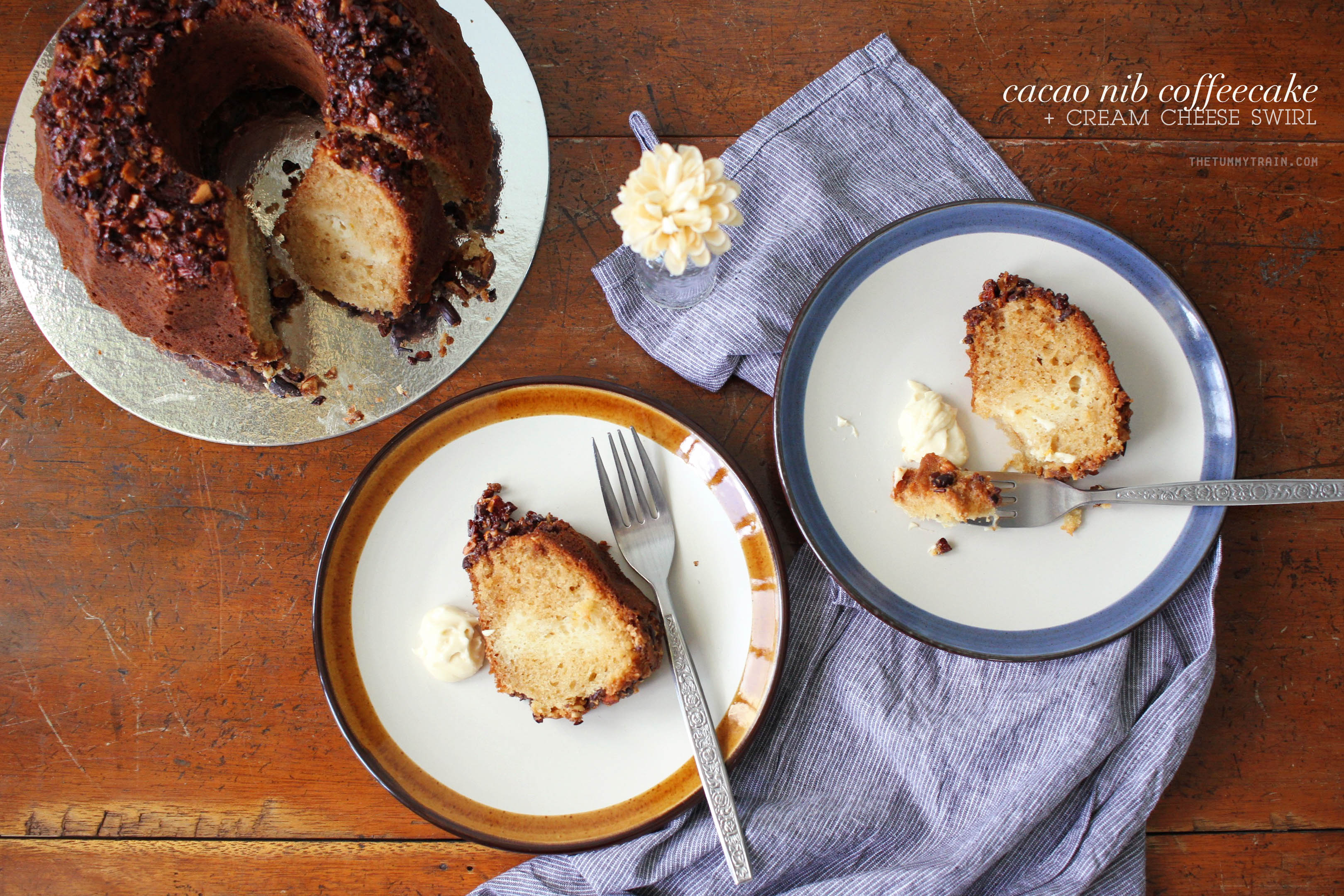 Cacao Nib Coffeecake 1 - A first encounter leading to this Cacao Nib Coffeecake [VIDEO]