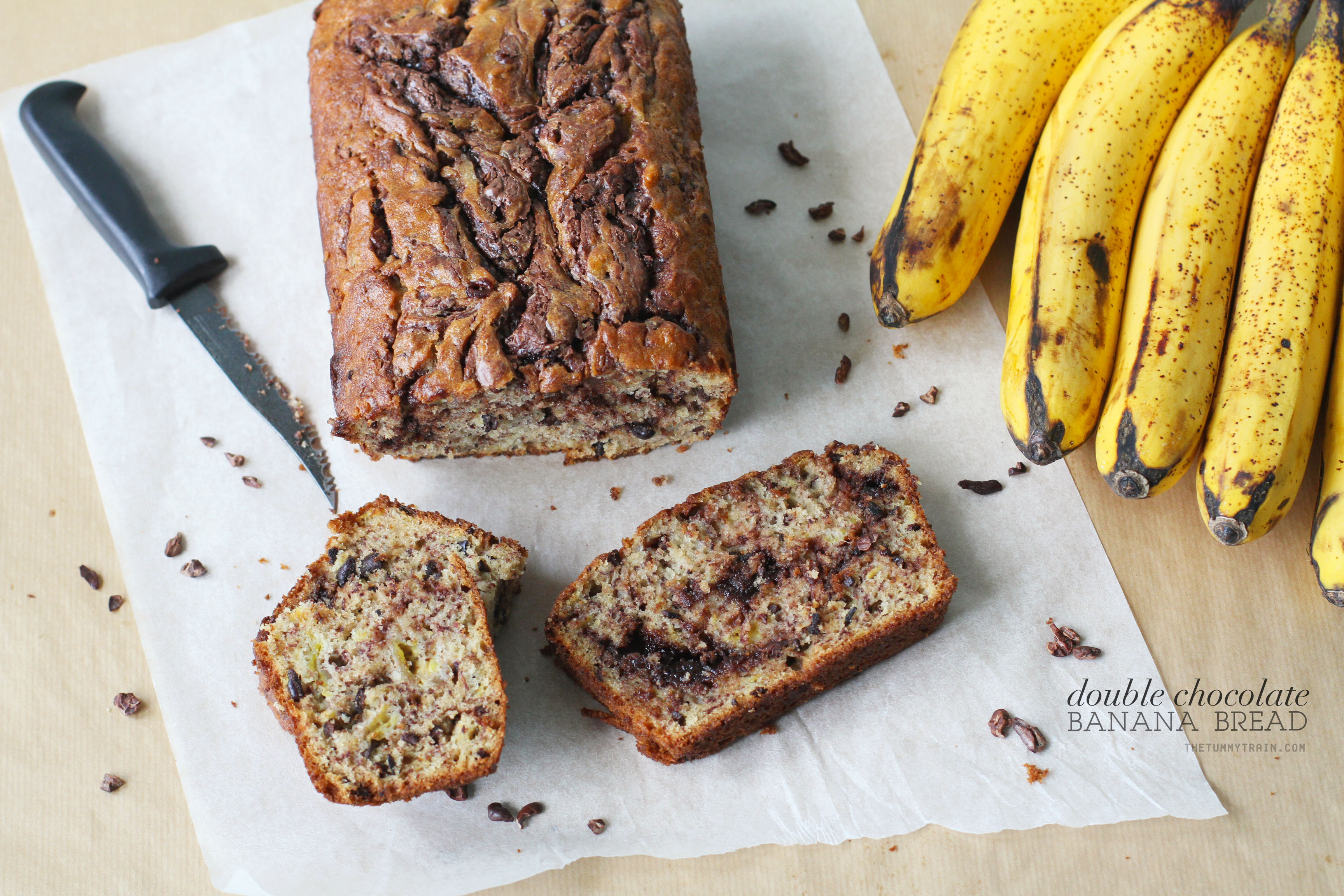 Double Choco Banana Bread 1 - Double trouble with this particular variation of a Chocolate Banana Bread Recipe