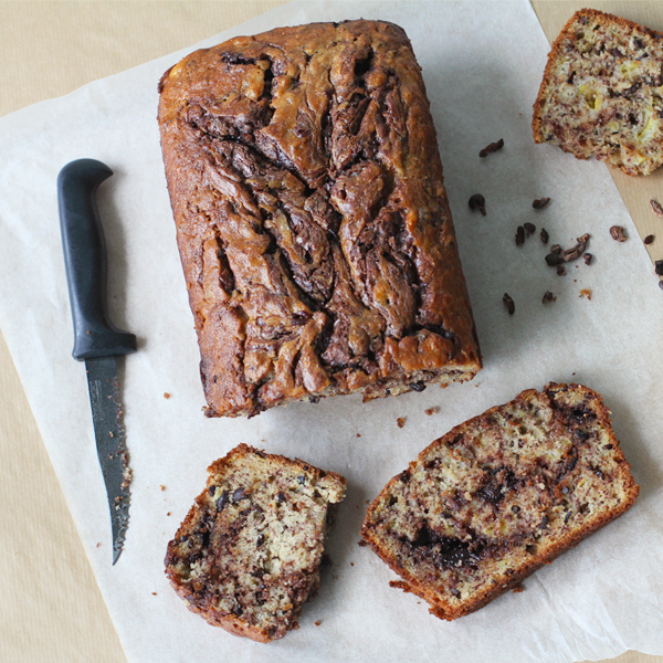 Double Choco Banana Bread - Double trouble with this particular variation of a Chocolate Banana Bread Recipe