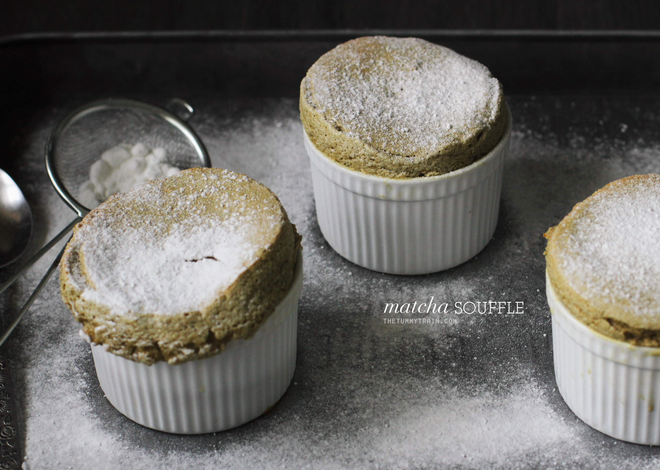 Matcha Souffle 1 - A happy birthday Matcha Green Tea Souffle Recipe