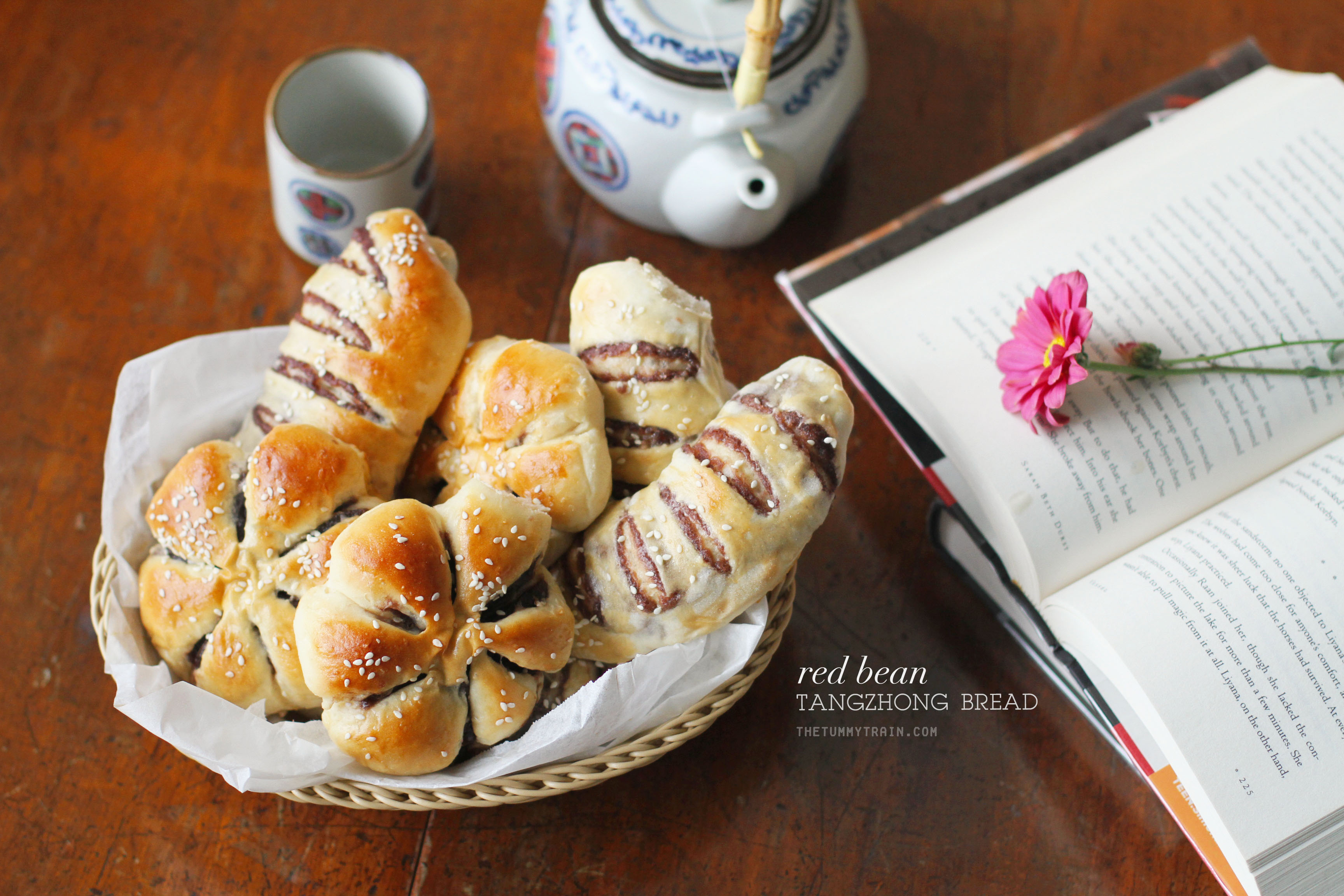 Red Bean Tangzhong Bread 1 - The surprising charms of Asian Red Bean Bread