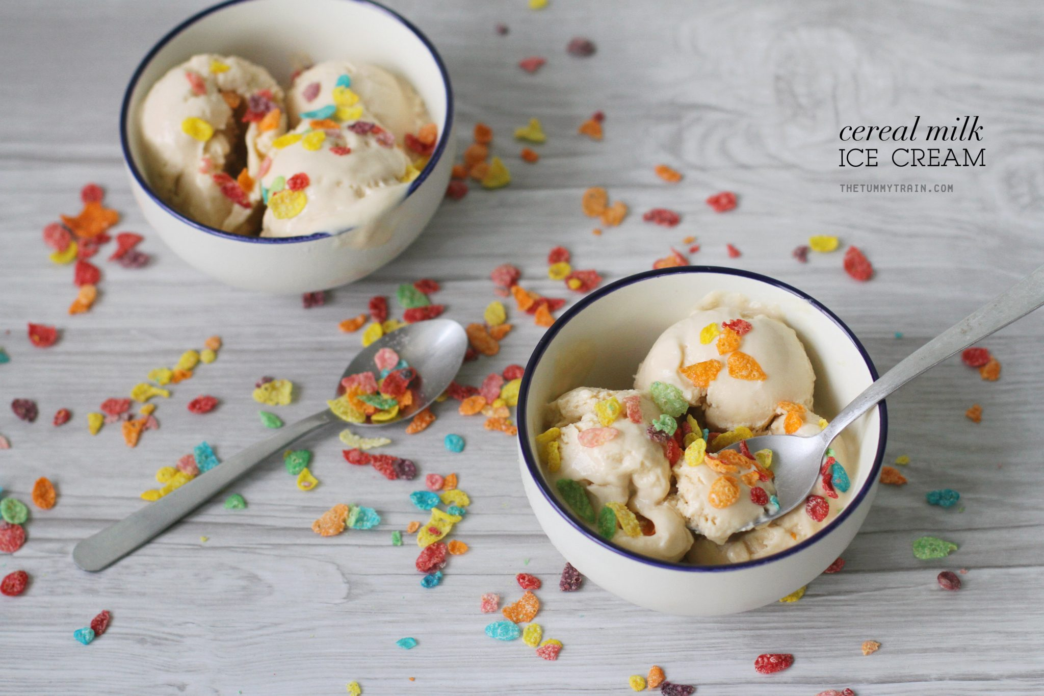 Cereal Milk Ice Cream 1 - A Sweet Cereal Milk Ice Cream to bring you back to your childhood
