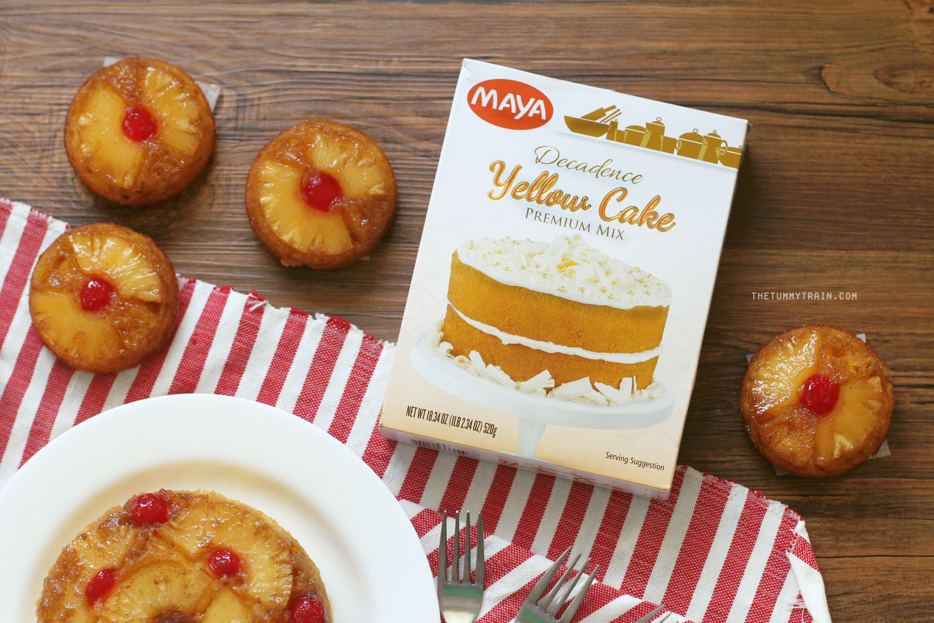 Maya Yellow Cake Mix 1 - Taste Test: Maya Yellow Cake Mix Pineapple Upside Down Cake
