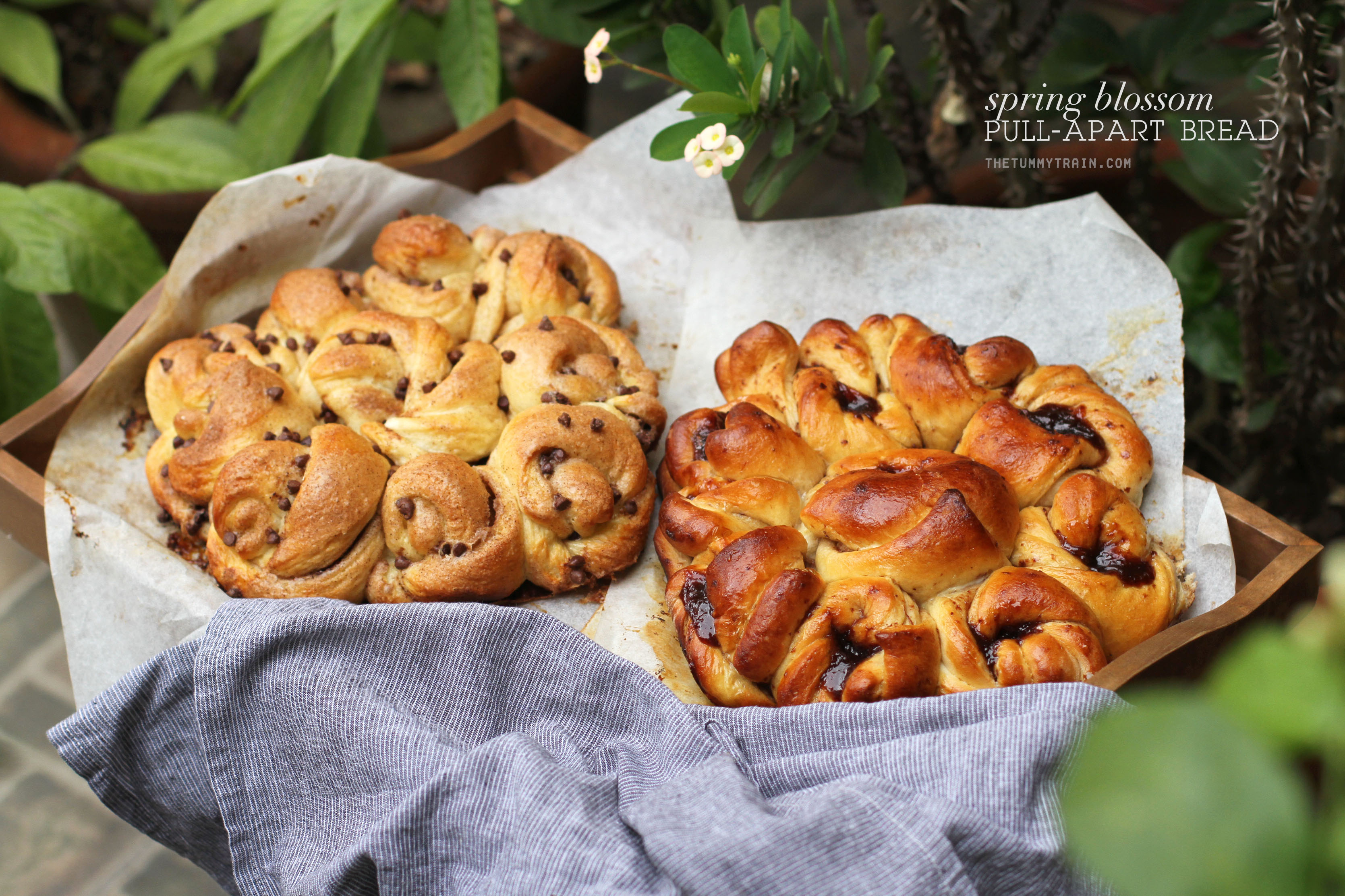 Spring Blossom Pull Apart Bread 1 - Lovely Easter Blossom Pull-Apart Bread to put you in the mood for spring