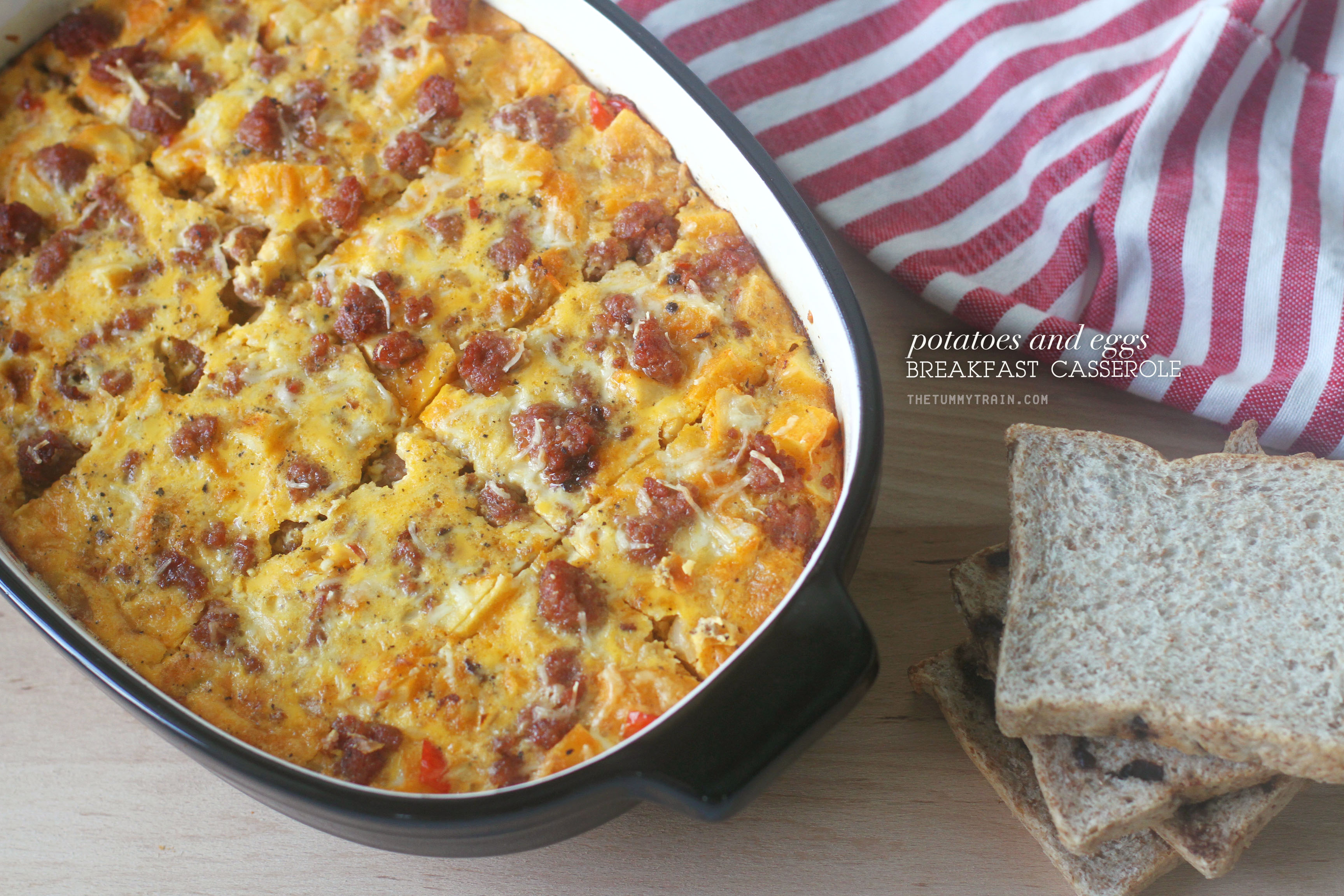 P E Breakfast Casserole 1 - A perfectly filling US Potatoes and Eggs Breakfast Casserole to kick-start your day